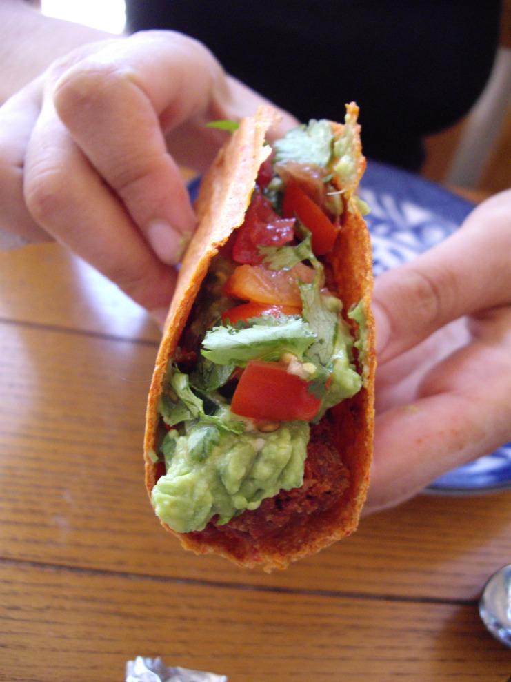 Raw taco
