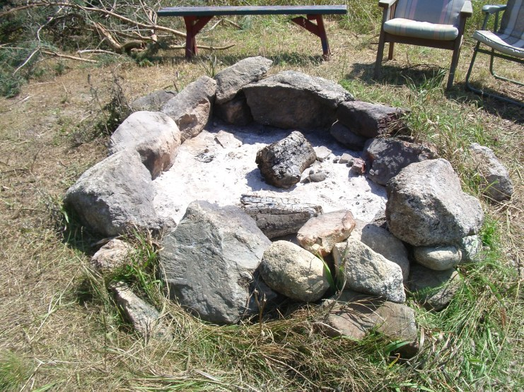 the ever necessary fire pit